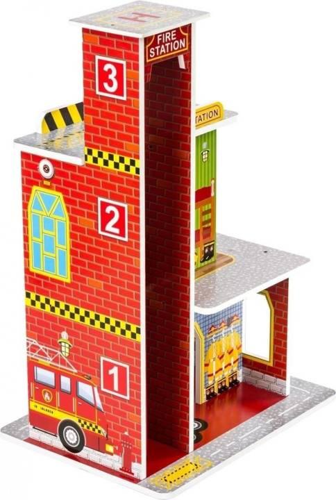 Drewniana remiza straży pożarnej Z10 - 4 poziomy, wysokość aż 60cm
