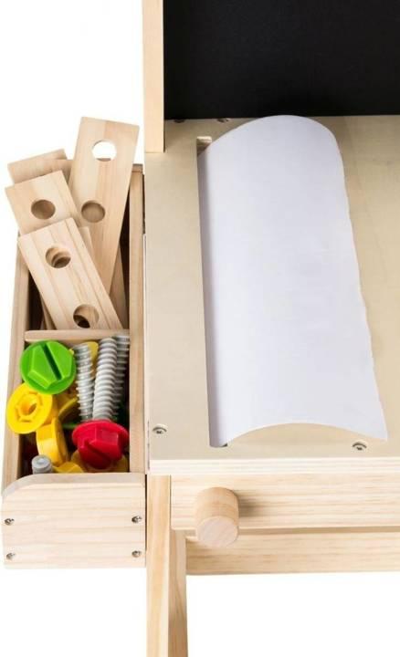 Drewniany zestaw majsterkowicza - warsztat 75 elementów