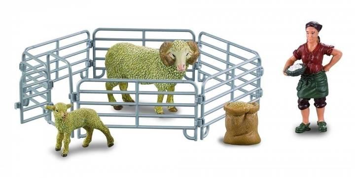 Farmee-zestaw Z03 - Gospodyni z baranem i jagnię