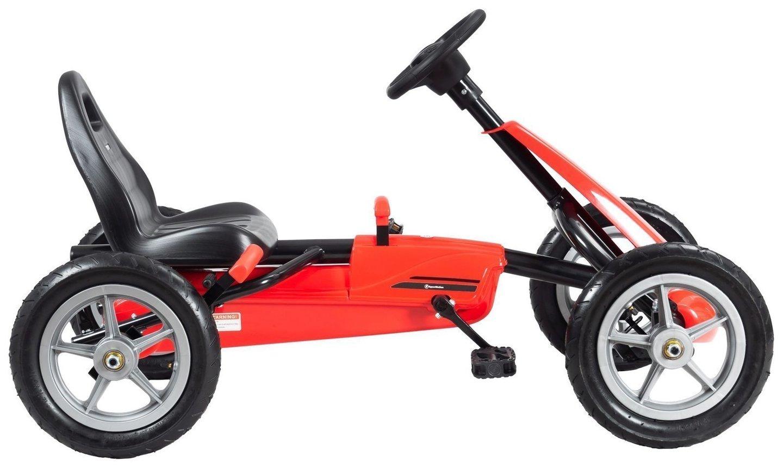 Gokart dla dzieci na pedały EVOQUE - jeździk dla dzieci 5-10 lat - czerwony