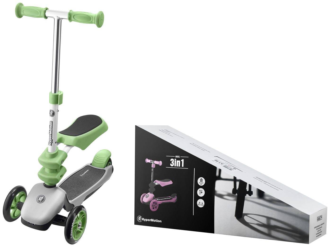 Hulajnoga 3in1 trójkołowa balansowa HyperMotion - zielona