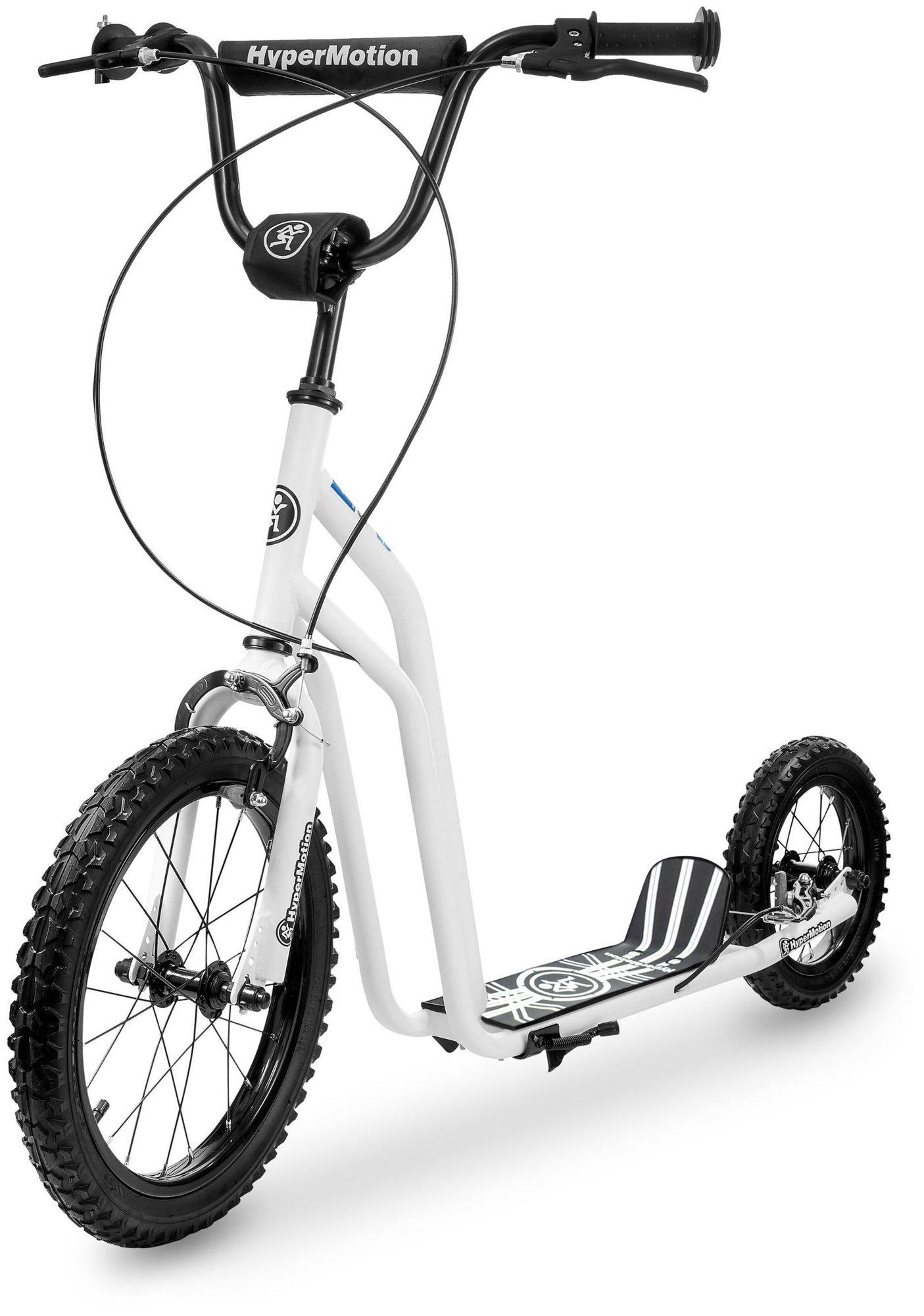Hulajnoga HyperMotion VIVA 16 (koła 40cm + 30cm) - Biała