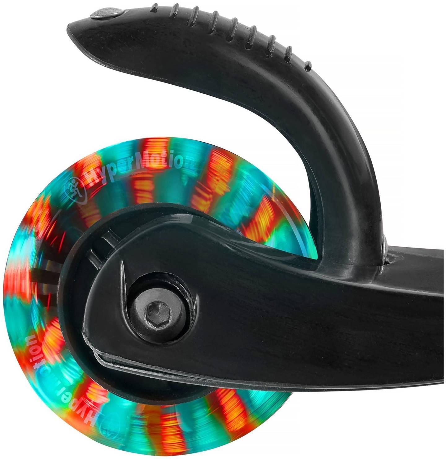 Hulajnoga trójkołowa balansowa DINO 3-5 lat - czarna + koła LED