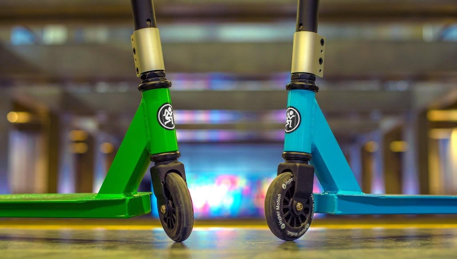 Hulajnoga wyczynowa HyperMotion EVO STUNT - zielona
