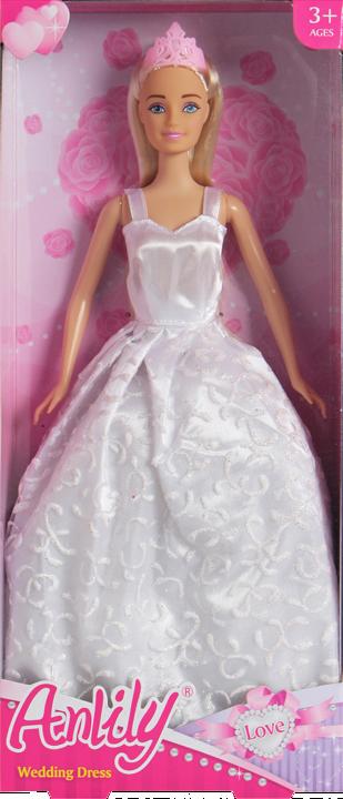 Lalka Anlily - Suknia ślubna - jasny blond
