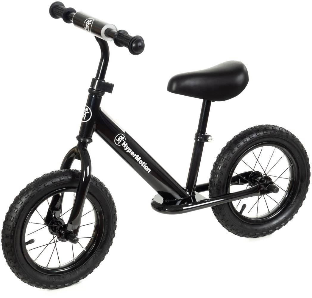 Rowerek biegowy HyperMotion VILANO AIR - pompowane koła - czarny